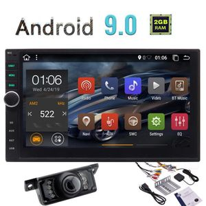 AUTORADIO Android 9.0 Car Stereo Double écran tactile 2 din