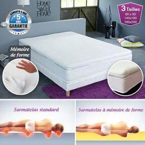 SUR-MATELAS Surmatelas à mémoire de forme confort Luxe 90 x 19