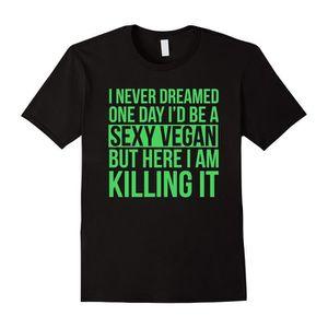 T-SHIRT Sexy Vegan T-shirt Drôle Sarcastique Message Végét