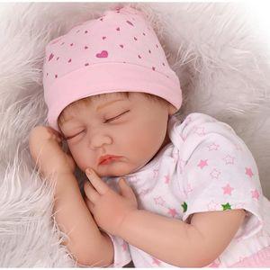 POUPÉE 55 cm silicone bébés reborn poupées les yeux fermé