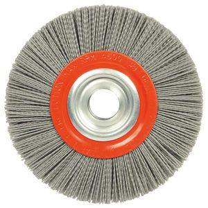sourcing map Roue en nylon 600 Grains Brosse abrasive avec t/ête 6mm tige filet/ée