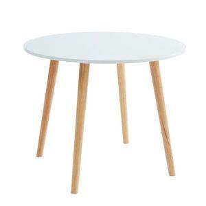 TABLE À MANGER SEULE Table de séjour ronde style scandinave coloris bla