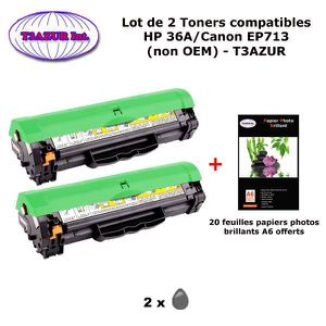 TONER 2 Toners génériques Canon EP713 pour imprimante Ca