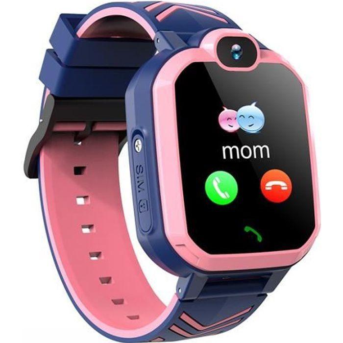 Montre Connectée Enfant R7 Rose Étanche Caméra HD SOS Appel Tracker GPS De Localisation Recherche