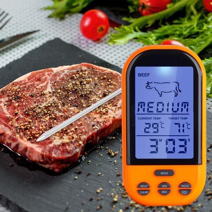 Thermomètre numérique à distance sans fil pour thermomètre à cuisson