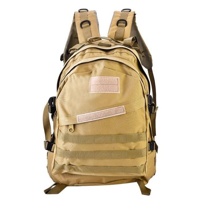 sac à dos militaire trekking randonnée camping sac à bandoulière Unisexe en plein air (kaki)