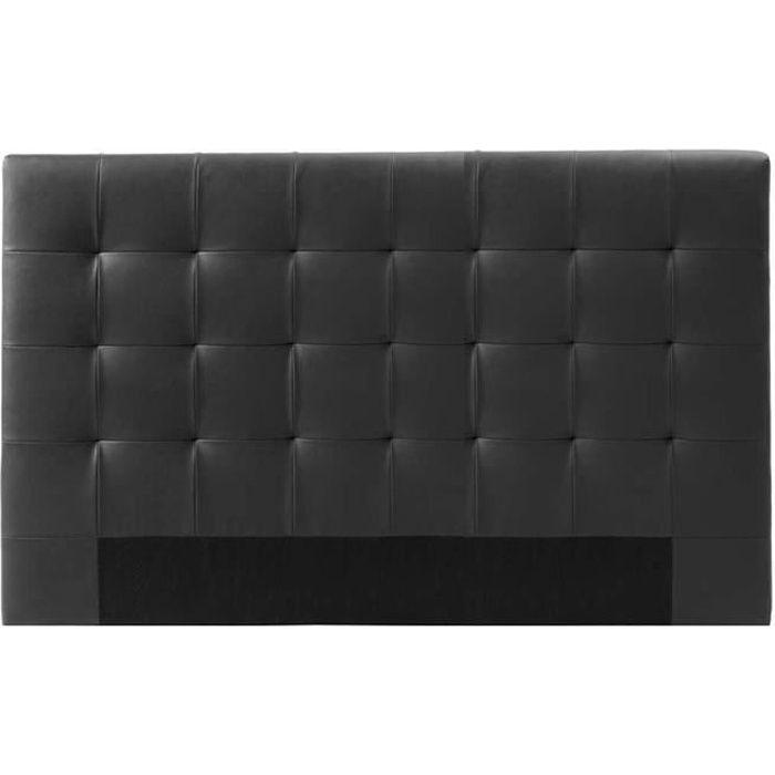 Tête de lit capitonnée noir 180 cm - Confort - DESIGNETSAMAISON