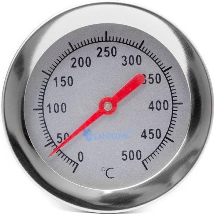Lantelme 2098 four à bois 400 °C - 30 cm - four à pizza - four en pierre - thermomètre four. Analogique et bimétallique