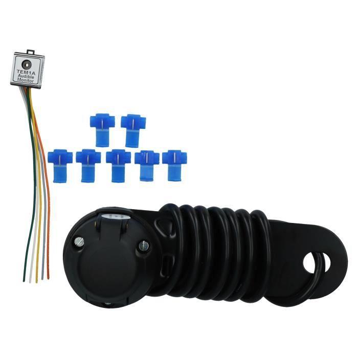 Barre remorquage Prise électrique unique avec avertissement sonore Remorque