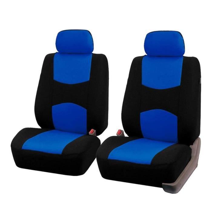 Housses de siège universelles pour véhicule-Van, couvre siège 1 + 2 bleues, couvre siège pour véhicule BLUE 2PCS