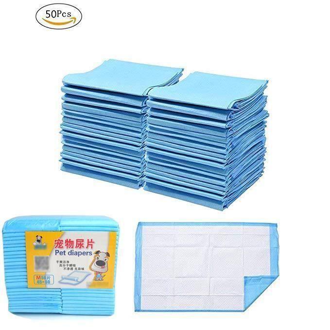 Tapis de propreté Educateurs Apprentissage Chien Chiot Chat couches pour animaux de compagnie 50 Pièces 45x60cm