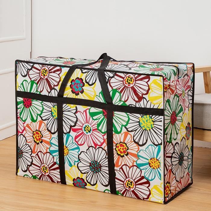 Housse de rangement,Non tissé tissu sacs de rangement couette couverture vêtements organisateur doudoune - Type S-XL (78X55X24cm)