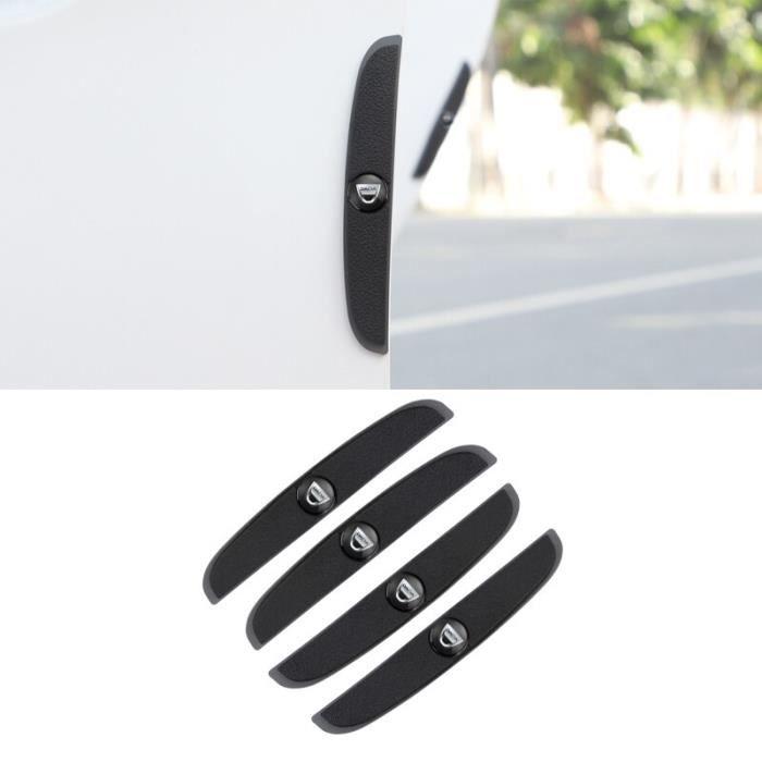 Black -Autocollant de protection contre les rayures pour porte de voiture, 4 pièces, pour Dacia Duster Logan Sandero Stepway Lodgy D