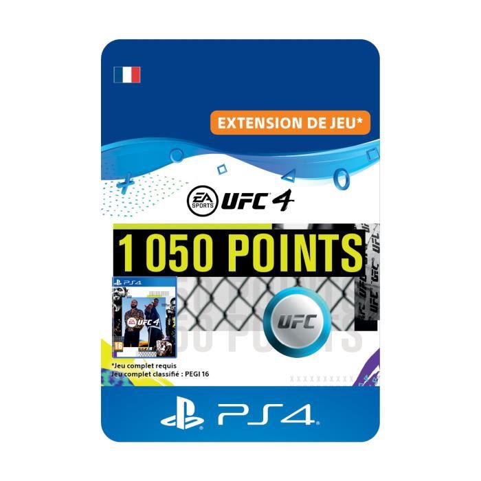 DLC 1050 Points UFC pour UFC®4 - Code de Téléchargement PS4