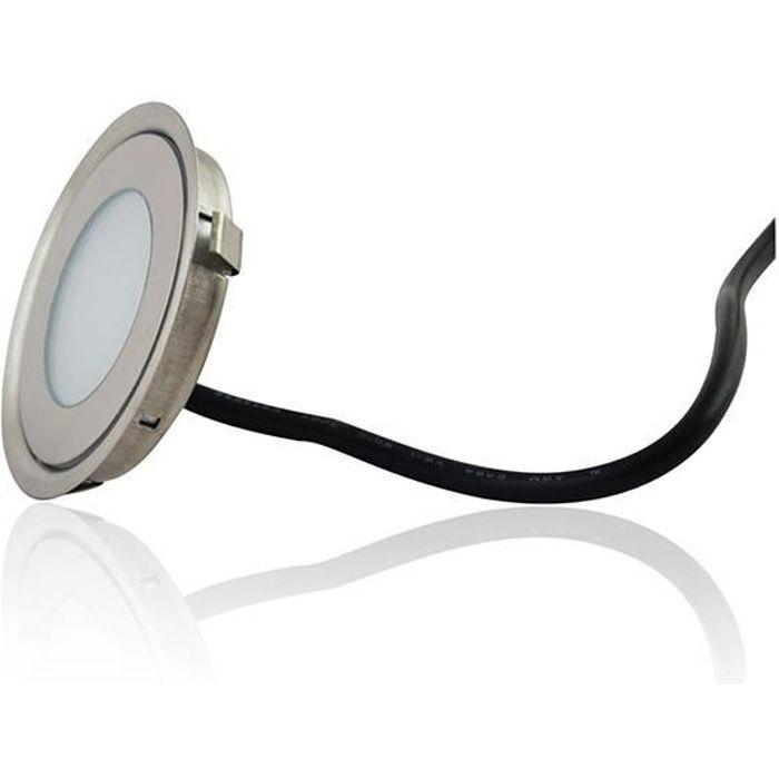 Mini spot LED encastrable rond ultra-plat - Teinte de lumière:Blanc Chaud (2700K) teinte de lumière:Blanc Chaud (2700K)