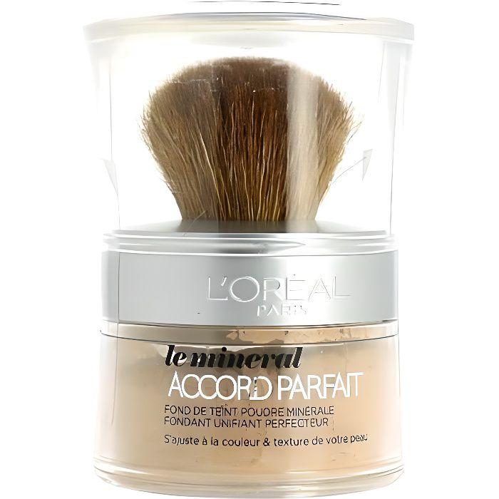 Poudre Le minéral Accord Parfait L'Oréal N6 miel éclat