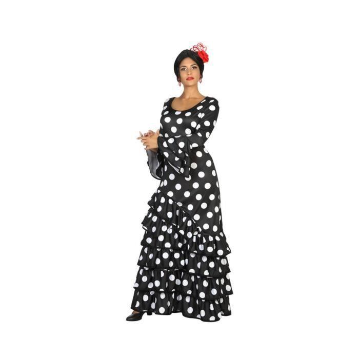 ATOSA Déguisement Danseuse Flamenco Noir - Panoplie Adulte