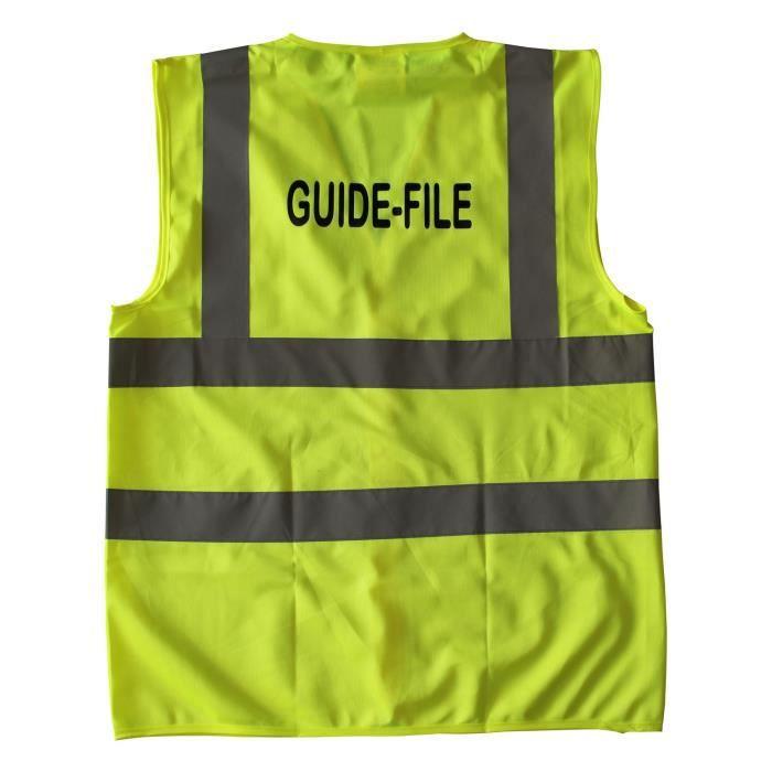 Gilet de sécurité - jaune - marquage au dos Guide-File