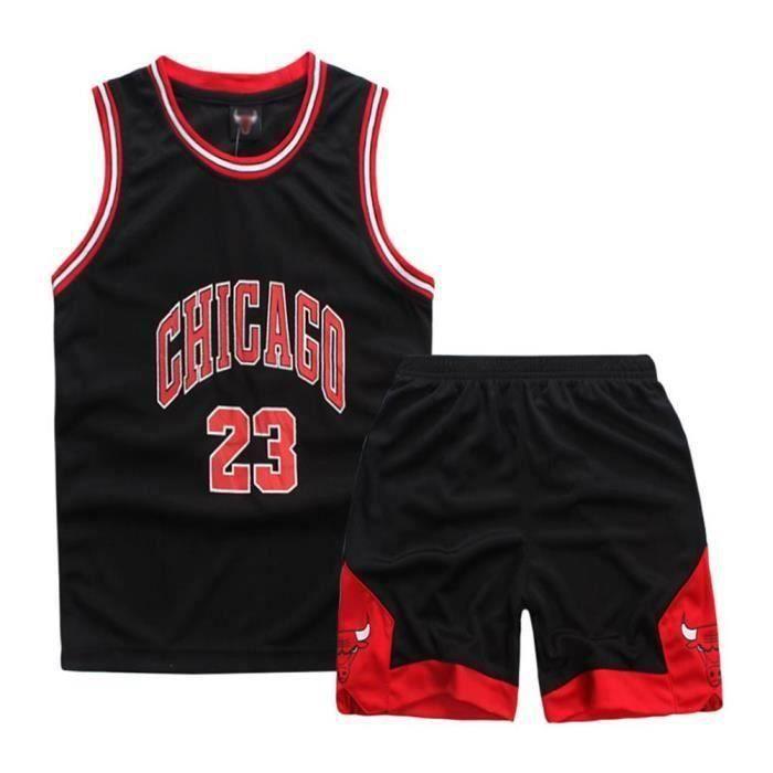 Maillot et Shorts de basketball michael jordan Chicago Bulls - Enfant garon - Noir