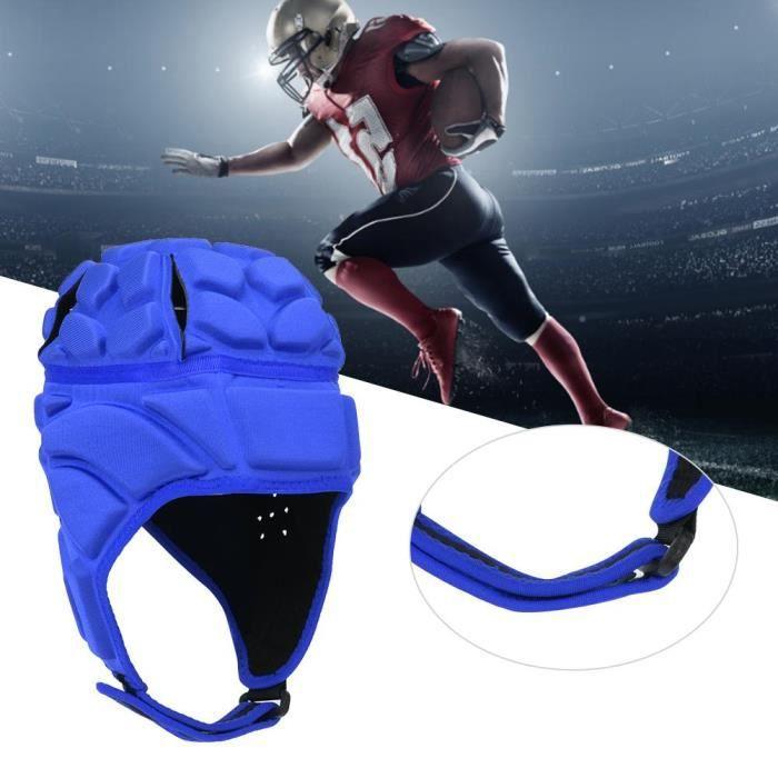 Professionnel Football Baseball Casque De Sport Rugby Gardien De But Roller Hat Head Guard Protector (Bleu L)-CHE