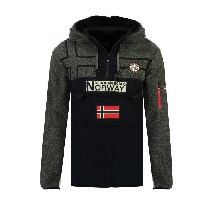 Polaire Homme Geographical Norway Riakolo Noir