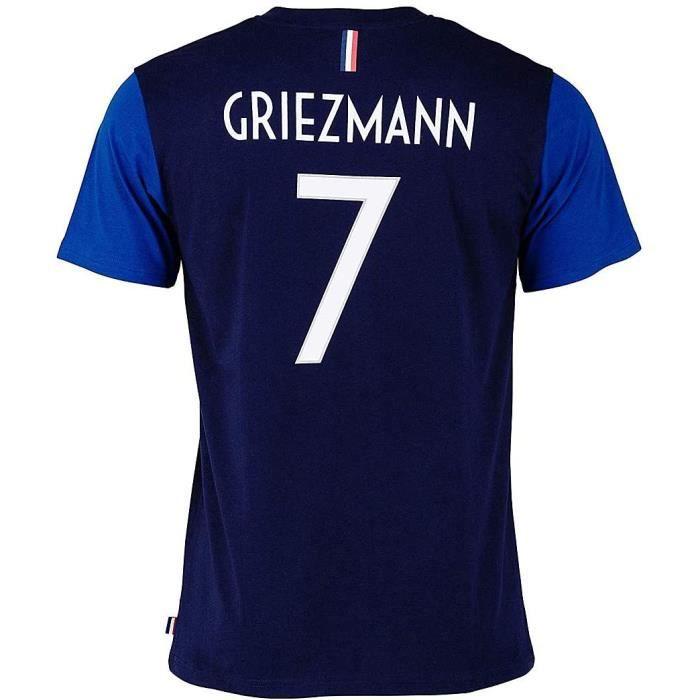 Tee-Shirt Equipe De France FFF Enfant GRIEZMAN N°7 Licence Officielle Bleu