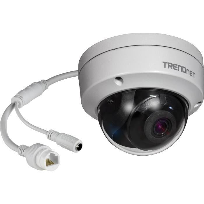 'Trendnet ip319pi Appareil Photo 8 MP 4 K PoE Polystyrène pour intérieur-extérieur H.265 WDR IR Dome Blanc