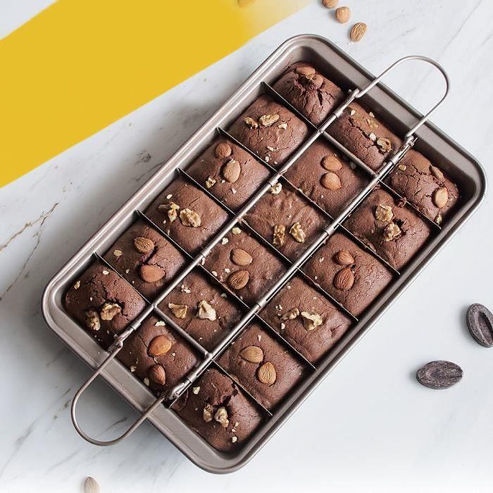 Moules à gâteaux Brownie antiadhési