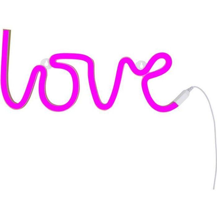 OBJETS LUMINEUX DÉCO  NEON LOVE - Applique LED Love Rose L38cm
