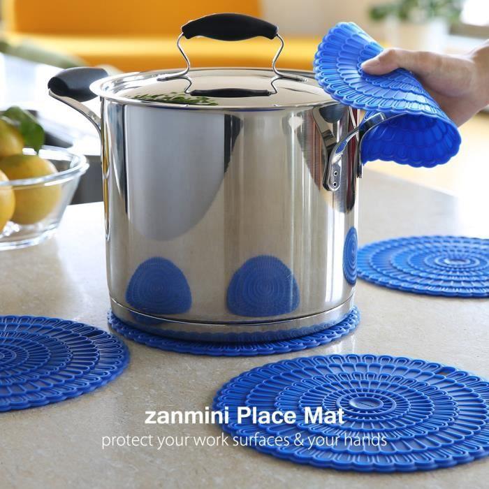 SET DE TABLE Tapis de table Hot Pad zanmini silicone 4 pcs - Bl