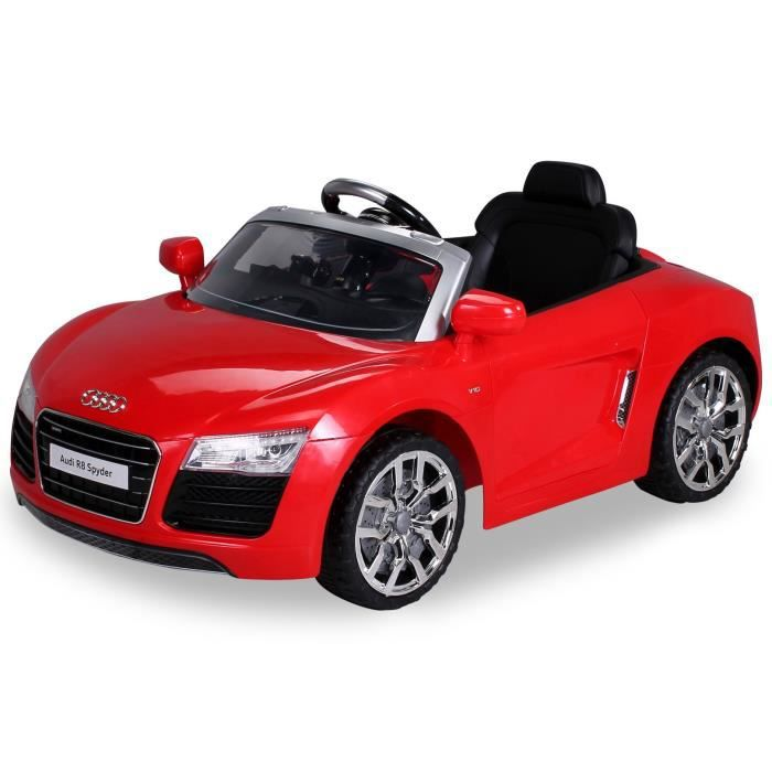 mini voiture lectrique pour enfants audi r8 2x35 watt rouge achat vente voiture enfant. Black Bedroom Furniture Sets. Home Design Ideas