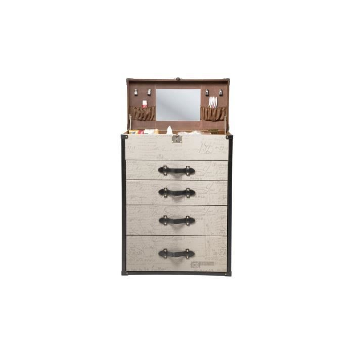 commode coiffeuse vintage 4 tiroirs kare design achat vente commode de chambre commode. Black Bedroom Furniture Sets. Home Design Ideas