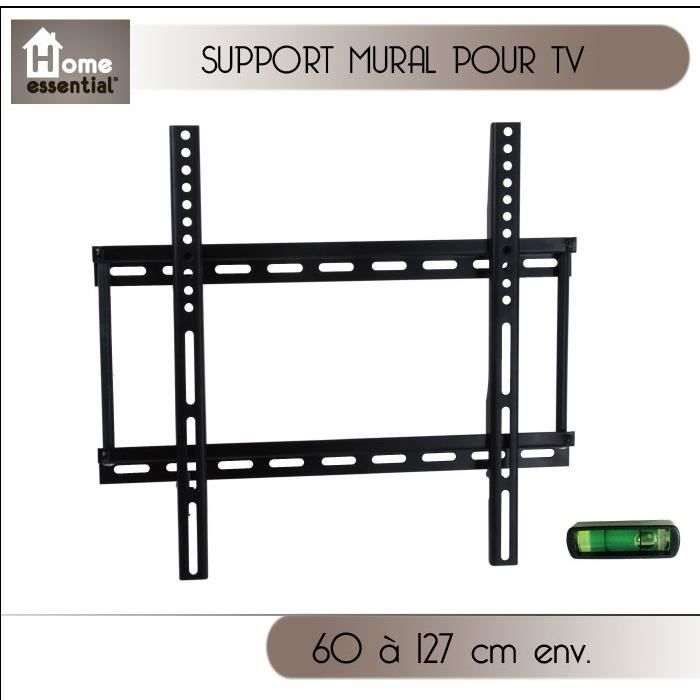 support mural pour tv 60 127 cm fixation support tv. Black Bedroom Furniture Sets. Home Design Ideas