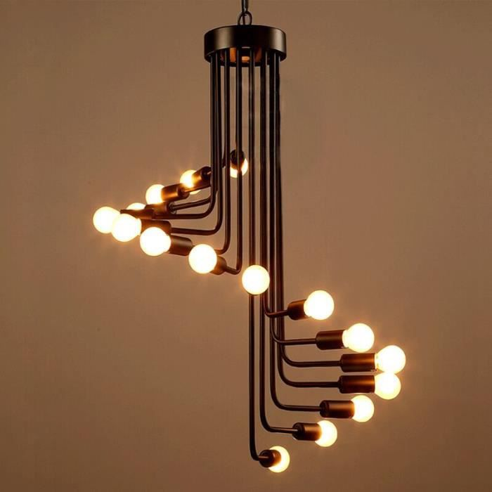 trendy lustre et suspension suspension fer forg lampe echelle spiral style or with suspension. Black Bedroom Furniture Sets. Home Design Ideas