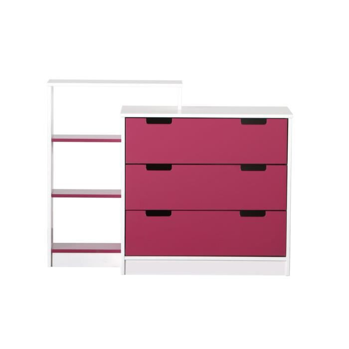 miliboo commode enfant blanche fushia crea achat vente commode semainier crea commode. Black Bedroom Furniture Sets. Home Design Ideas