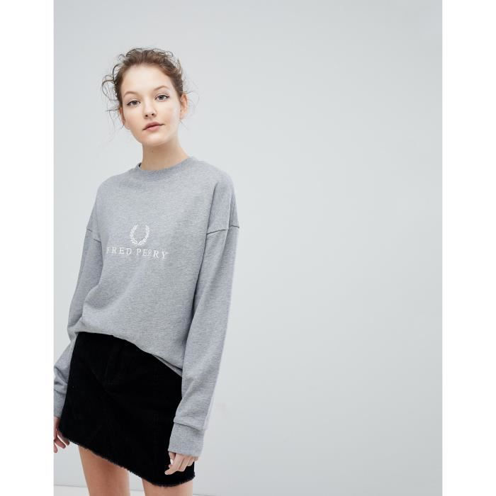 e946d9403957f Fred Perry Sweat-shirt avec logo brodé couronne de laurier EAEM2 42 ...