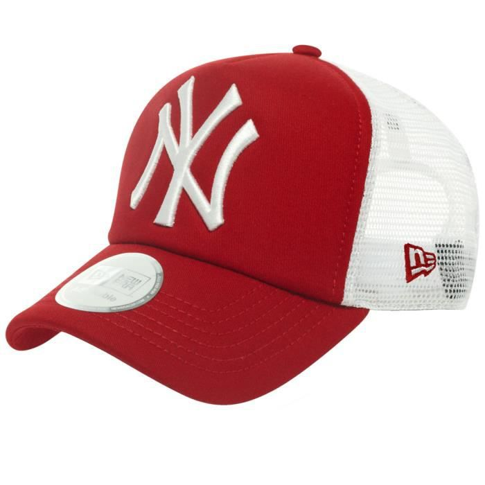 new era trucker casquette new york yankees rouge achat vente casquette 0886947030825. Black Bedroom Furniture Sets. Home Design Ideas