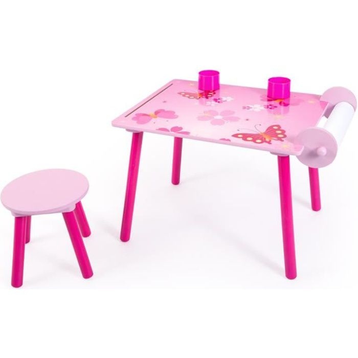 Ensemble table et chaise enfant rose achat vente table for Table et chaise bebe 2 ans