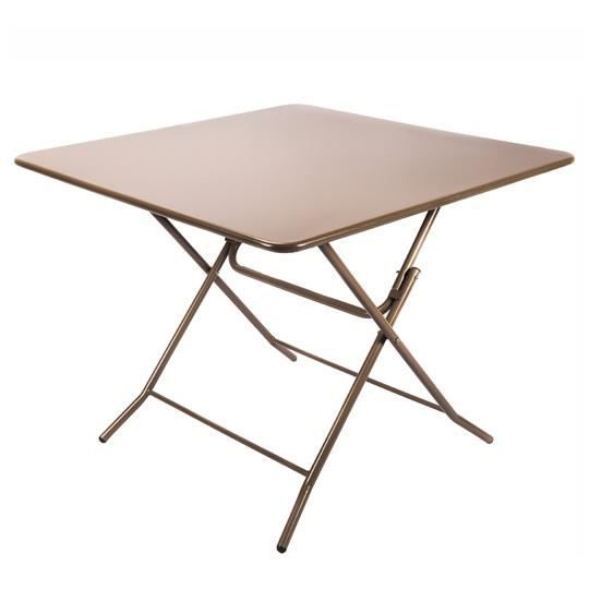 Table pliante bistrot taupe mat achat vente table de for Table de bistrot pliante