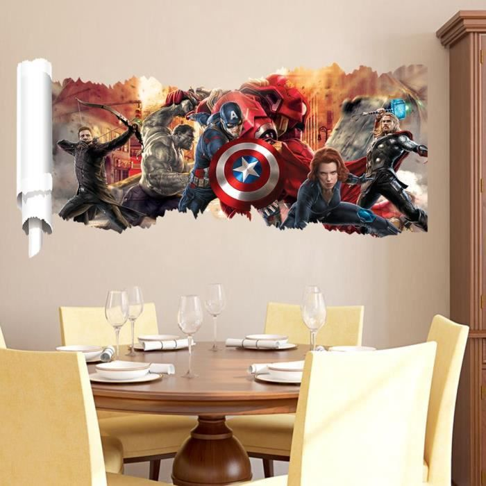 STICKERS The Avengers Wall Sticker Stickers pour les enfant