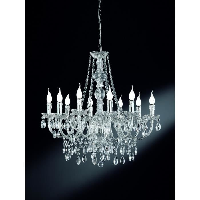 lustre baroque 10 lampes achat vente lustre baroque 10 lampes cdiscount. Black Bedroom Furniture Sets. Home Design Ideas