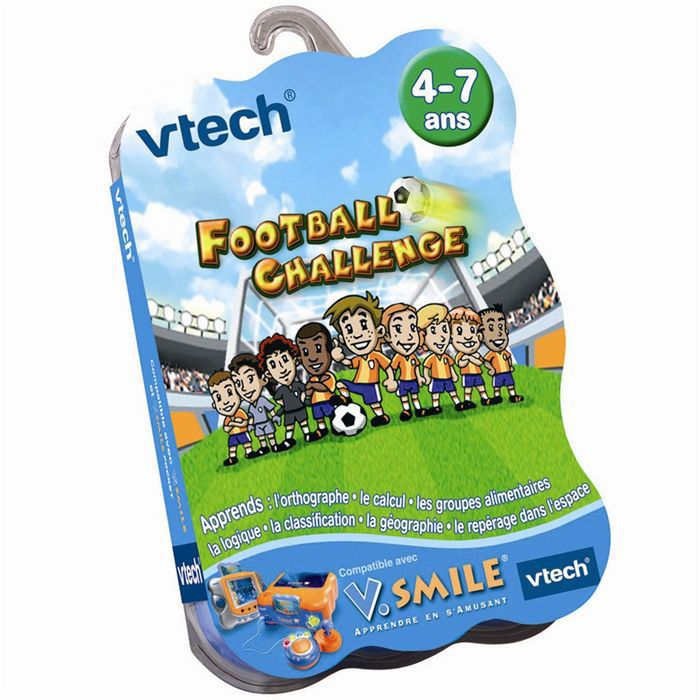 JEU CONSOLE EDUCATIVE Jeu VSmile Football Challenge Vtech