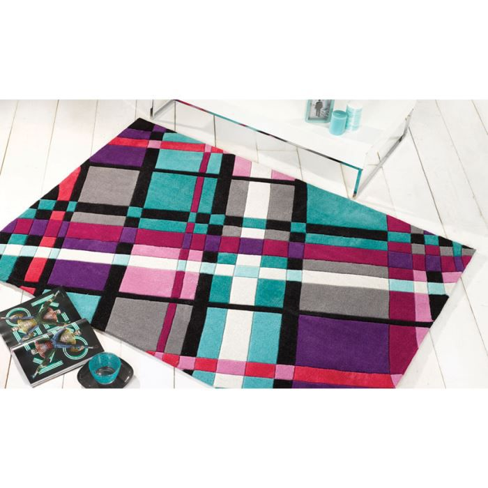 tapis moderne pas cher plaid purple cm 160x220 achat vente tapis cdiscount. Black Bedroom Furniture Sets. Home Design Ideas
