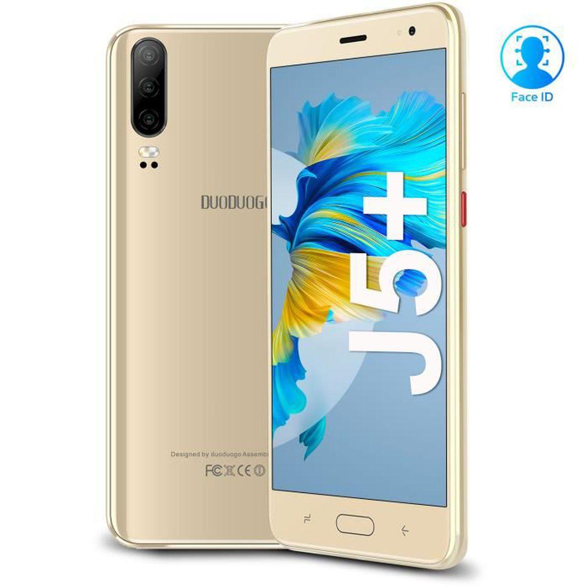 SMARTPHONE DUODUOGO J5+ 2019, Smartphone 4G pas cher-1G+16G-A