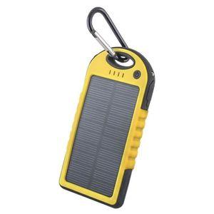 Batterie téléphone Batterie Externe Solaire 5000 mAh Waterproof Pour