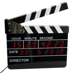 Radio réveil Réveil digital clap de cinéma réalisateur de film