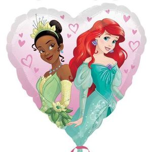 "50 x Disney Frozen Anna /& Elsa visage 6 /""en forme de cœur Qualatex Ballons de latex"
