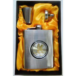 FLASQUE COFFRET Cadeau chasseur fiole flasque whisky jack