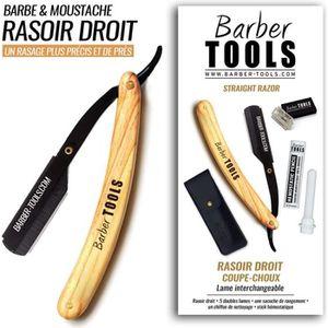 KIT RASAGE Rasoir droit coupe-choux / Rasoir de barbier lame