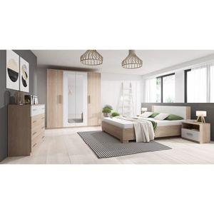 CHAMBRE COMPLÈTE  Chambre complète MARCO bois et blanc